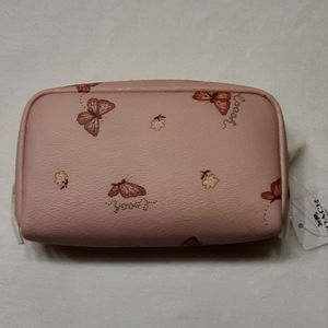 Coach Bags - Coach Boxy Cosmetic Case Pink Butterfly